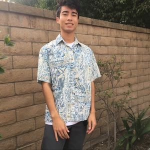 Cooke Street Honolulu snazzy blue pattern